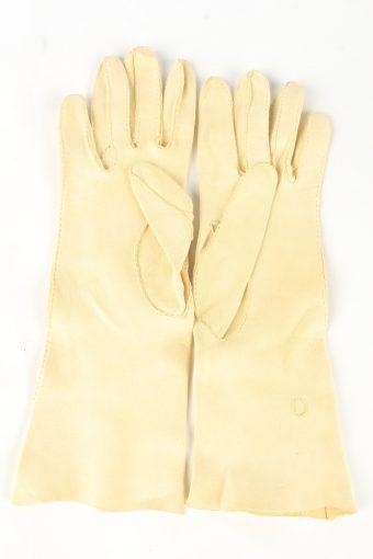 """Dress Gloves Vintage Womens 6"""" Beige -G437-151807"""