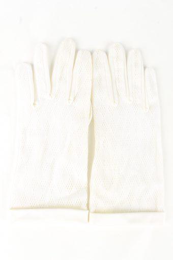 Dress Gloves Vintage Womens 6.5 in White