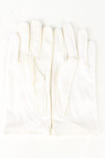 """Dress Gloves Vintage Womens 6.5"""" White -G438-151810"""