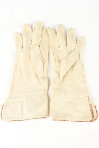 """Dress Gloves Vintage Womens 6"""" Beige -G439-151813"""