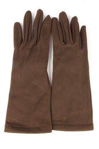 Dress Gloves Vintage Womens 6 in Brown
