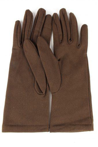 "Dress Gloves Vintage Womens 6"" Brown -G441-151819"