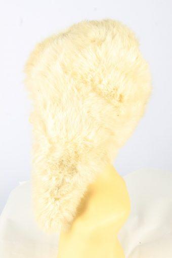 Winter Fur Cap Hat Vintage Womens Beige -HAT1827-151623
