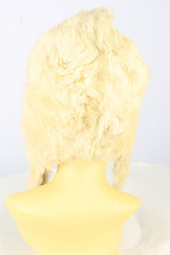 Winter Fur Cap Hat Vintage Womens Beige -HAT1827-151624