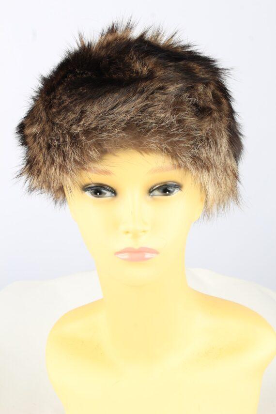 Russian Fur Cossack Hat Vintage Womens Brown -HAT1835-0