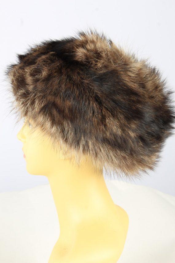 Russian Fur Cossack Hat Vintage Womens Brown -HAT1835-151655