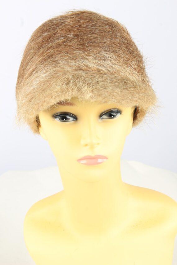 Russian Fur Cossack Hat Vintage Womens Brown -HAT1837-0