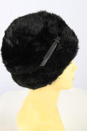 Russian Fur Cossack Hat Vintage Womens Black -HAT1838-151667
