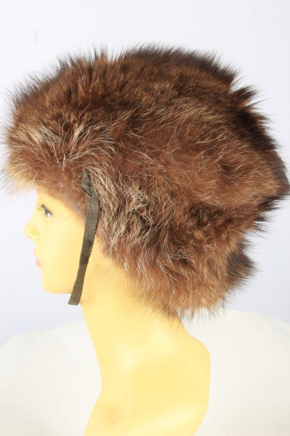 Russian Fur Ushanka Hat Vintage Womens Brown -HAT1841-151679