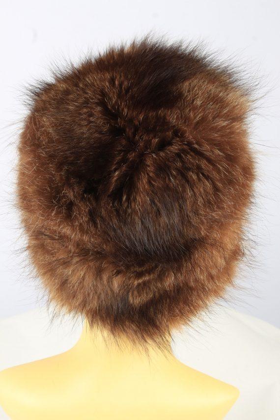 Russian Fur Ushanka Hat Vintage Womens Brown -HAT1841-151680
