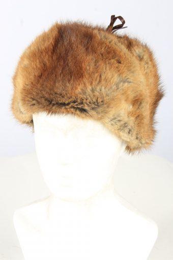 Lined Cossack Hat Vintage Unisex