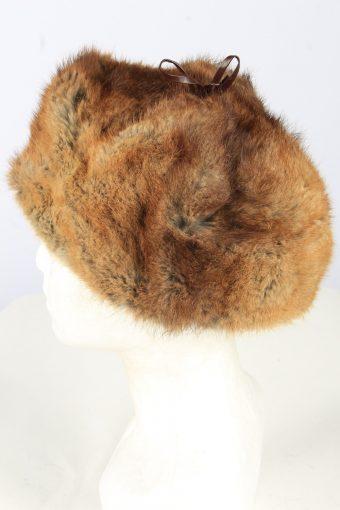 Lined Cossack Hat Vintage Unisex Brown -HAT1850-151715