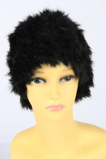 Faux Fur Beanie Hat Vintage Womens