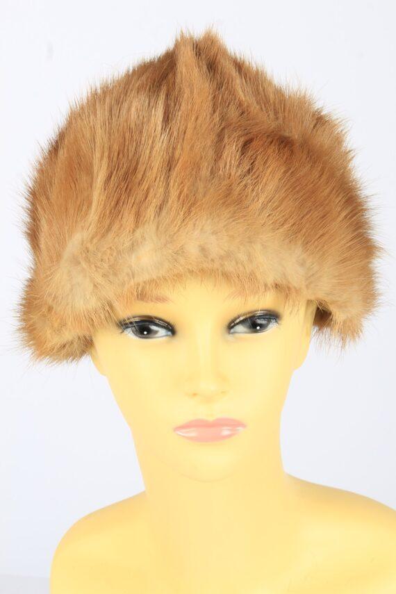 Russian Fur Cossack Hat Vintage Womens 1980s Brown -HAT1690-0