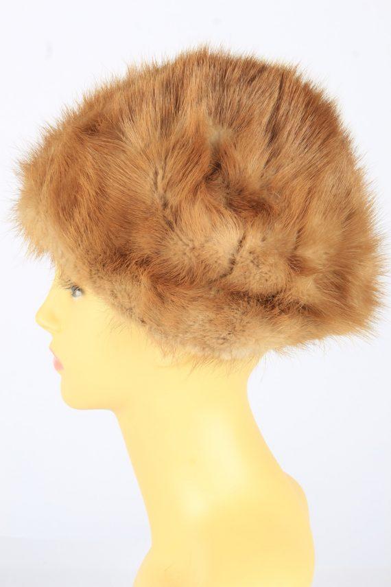 Russian Fur Cossack Hat Vintage Womens 1980s Brown -HAT1690-150596