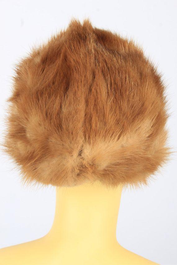 Russian Fur Cossack Hat Vintage Womens 1980s Brown -HAT1690-150597