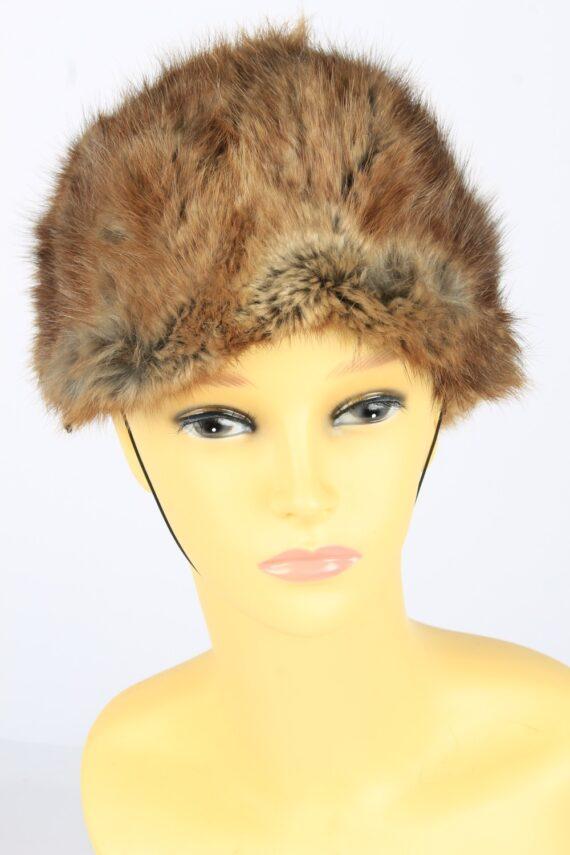 Russian Fur Cossack Hat Vintage Womens 1980s Brown -HAT1693-0