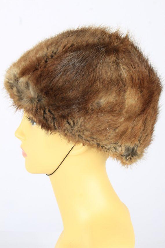 Russian Fur Cossack Hat Vintage Womens 1980s Brown -HAT1693-150608