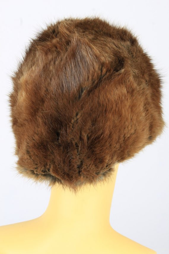 Russian Fur Cossack Hat Vintage Womens 1980s Brown -HAT1693-150609