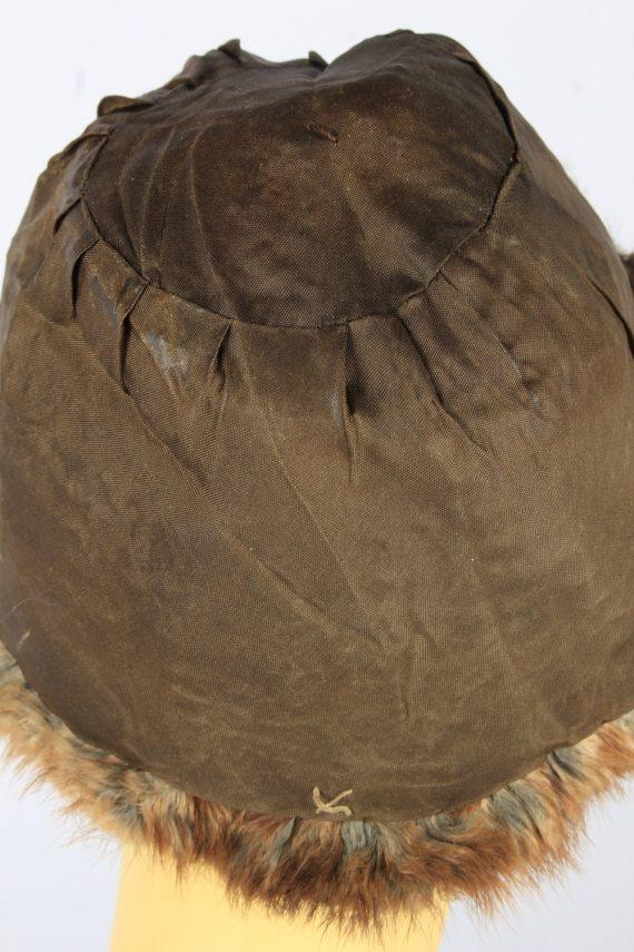 Russian Fur Cossack Hat Vintage Womens 1980s Brown -HAT1693-150610