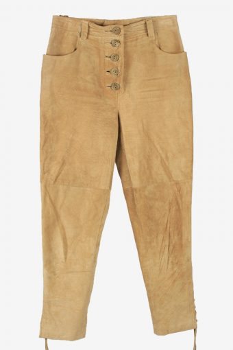 Real Suede Leather Trouser Country Women W30 L30