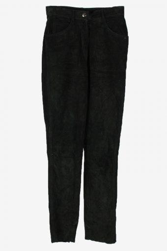 Genuine Suede Leather Trouser Frontline Women W26 L32