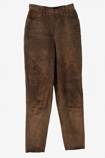 Real Suede Leather Trouser Betty Barclay Women W26 L31