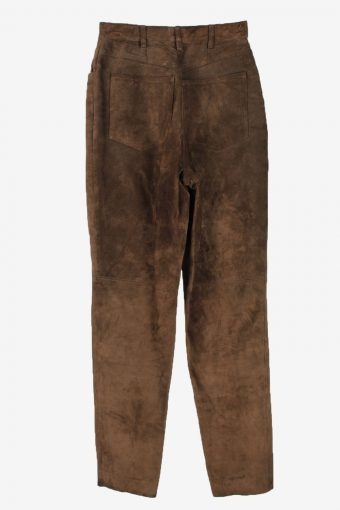Genuine Suede Leather Trouser Jeans Betty Barclay Vintage Womens Size 36 Brown -J5147-150444