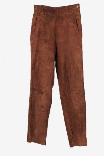 Genuine Suede Leather Trouser Jeans MisWomen W26 L29