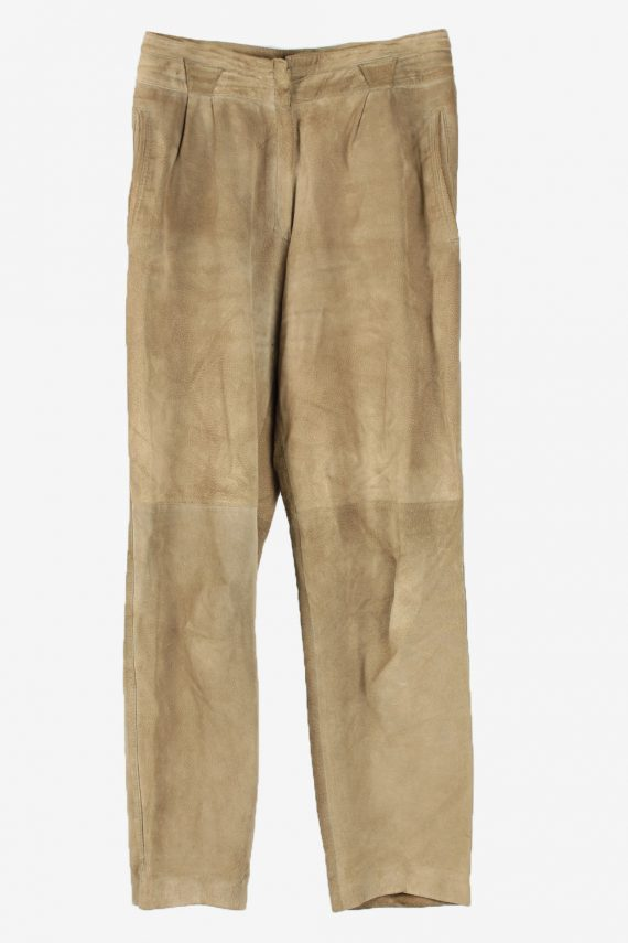 Genuine Suede Leather Trouser Jeans Rosner Vintage Womens Size 42 Light Brown -J5150-0