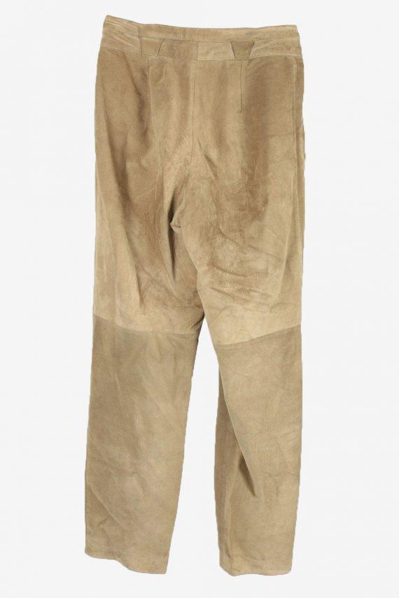 Genuine Suede Leather Trouser Jeans Rosner Vintage Womens Size 42 Light Brown -J5150-150456
