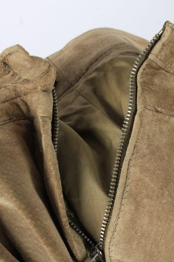 Genuine Suede Leather Trouser Jeans Rosner Vintage Womens Size 42 Light Brown -J5150-150457