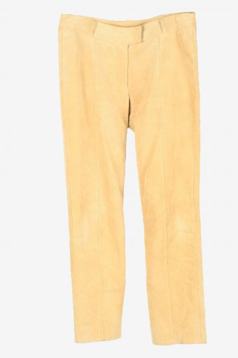 Genuine Suede Leather Trouser Apart Womens W29 L28