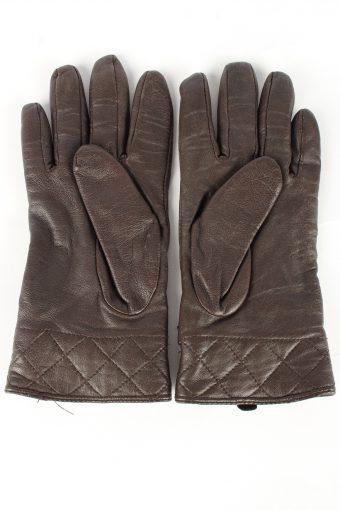 Genuine Leather Gloves Lined Vintage Womens 7.5 Beige -G451-151986