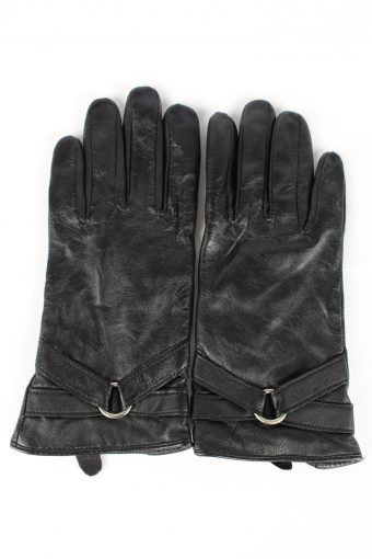 Genuine Leather Gloves Lined Vintage Womens 7.5 Brown