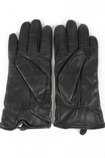 Genuine Leather Gloves Lined Vintage Womens 7.5 Brown -G453-151992