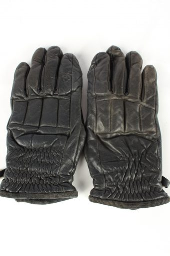 Leather Motorcycle Gloves Vintage Womens Black