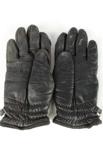 Leather Motorcycle Gloves Vintage Womens Black -G459-152010