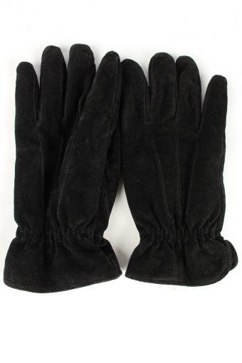 Genuine Leather Gloves Vintage Unisex 9.5 Black