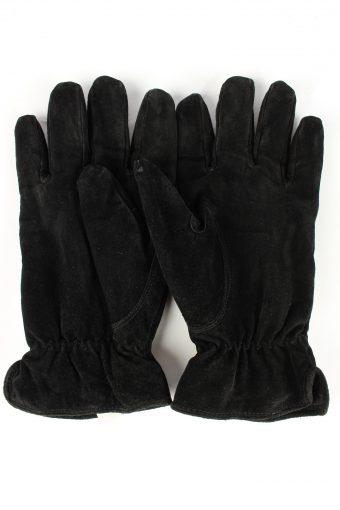 Genuine Leather Gloves Vintage Unisex 9.5 Black -G464-152025