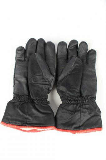 Reusch Ski Snowboard Gloves Vintage Mens 9 Black -G414-151738
