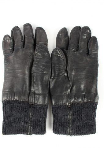 "Leather Motorcycle Gloves Lined Vintage Mens 8"" Black -G415-151741"