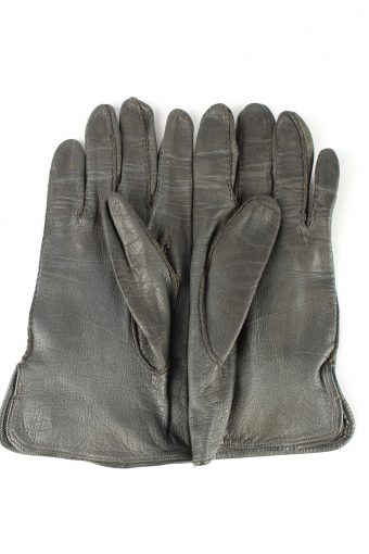 """Leather Gloves Vintage Womens 7.5"""" Grey -G434-151798"""