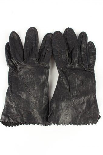 Leather Gloves Vintage Womens Black