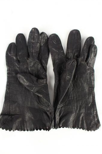 Leather Gloves Vintage Womens Black -G335-151063