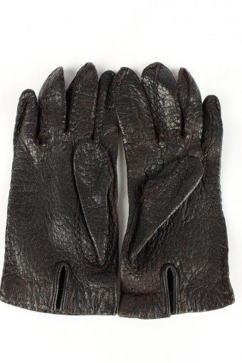 Leather Gloves Vintage Womens Black -G344-151099