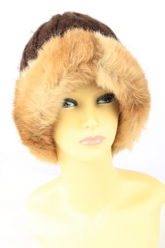 Chunky Knit Beanie Hat Vintage Womens
