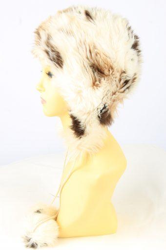 Faux Fur Pom Pom Hat Vintage Womens Multi -HAT1887-152062