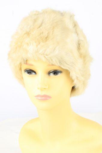 Faux Fur Lined Hat Vintage Womens
