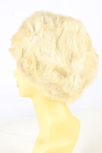 Faux Fur Lined Hat Vintage Womens Beige -HAT1895-152094